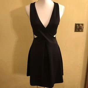 NWT Express cross front, mini dress with cut outs